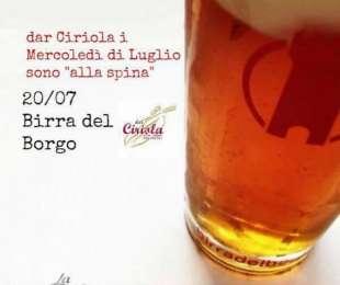Birra del Borgo | Mercoledì 20 Luglio